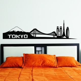Style & Apply Tokyo City Skyline Wall Decal Sticker