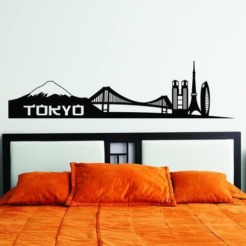 Style & Apply Tokyo City Skyline Wall Decal Sticker