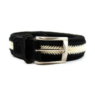 Zerbini Women's Black Textile 42-inch Belt