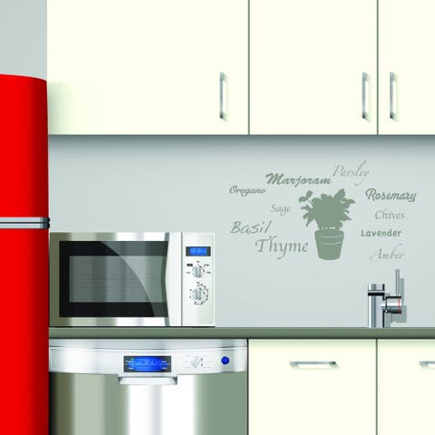 Style and Apply 'World of Herbs' Vinyl Wall Decal