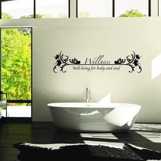 Style and Apply 'Wellness' Multicolor Vinyl Wall Decal