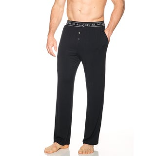 Slacker Men's Black/Blue Rayon/Spandex PJ Pants