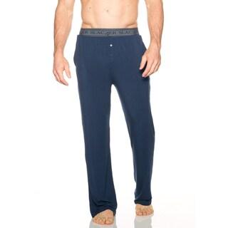 Slacker Men's Black/Blue Rayon/Spandex PJ Pants