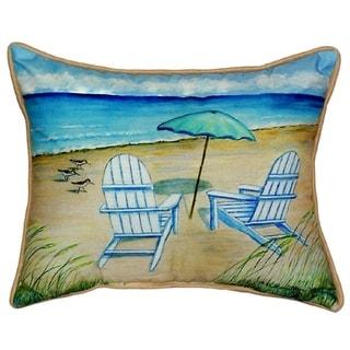 Betsy Drake Adirondack Multicolor Polyester Throw Pillow