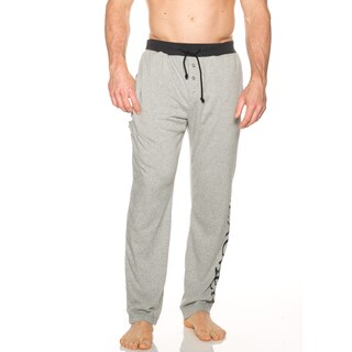 Slacker Men's Black and Grey Cotton and Polyester 5-pocket Lounge Pants