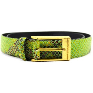 Rocco Barocco Women's Green Leather 31-inch Belt