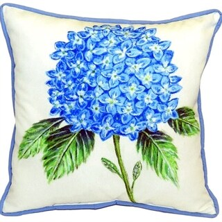 Dick's Hydrangea 22 Inch Indoor/Outdoor Decorative Throw Pillow