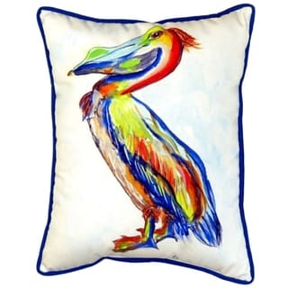 Sylvester Pelican 16x20 Indoor/Outdoor Throw Pillow