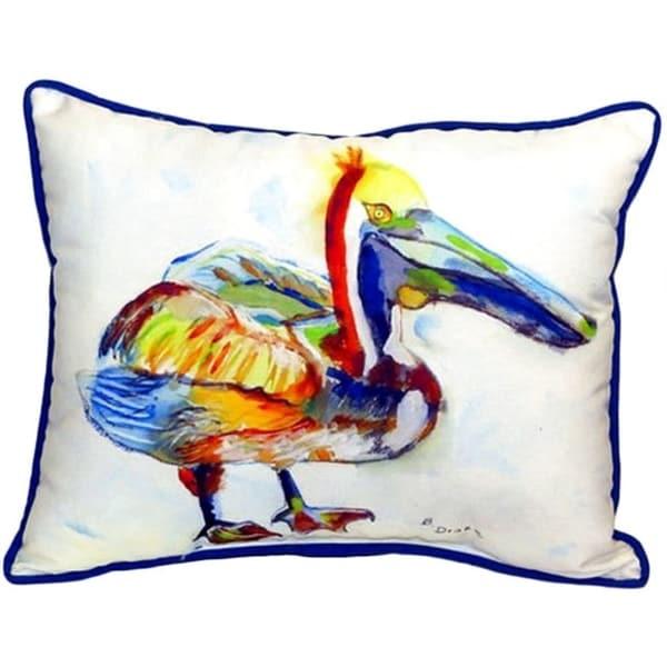 Heathcliff Pelican 16-inch x 20-inch Indoor/Outdoor Throw Pillow