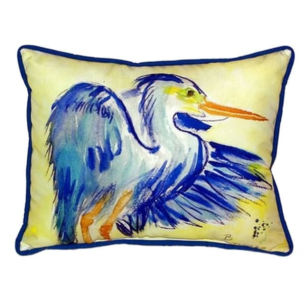 Blue Heron Throw Pillows : Blue Heron Multi-color Polyester Indoor, Outdoor Throw Pillow - Free Shipping On Orders Over USD45 ...