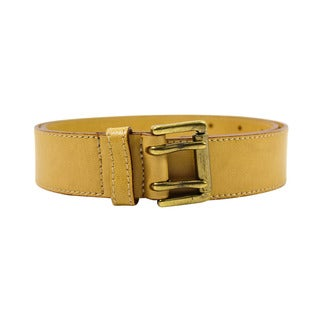 Master by Nannini Women's Beige Leather Belt