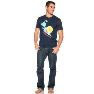 Men's Snailed It Navy Blue Cotton T-shirt