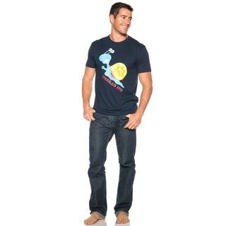 Men's Snailed It Navy Blue Cotton T-shirt (2 options available)