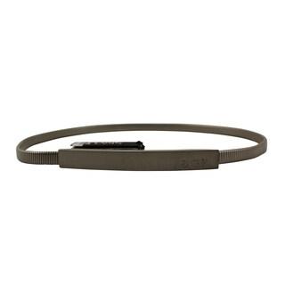 Gianfranco Ferr Women's Silver Metal 41-inch Belt