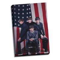 The Beatles US Flag 24x26 Canvas