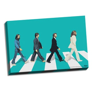 The Beatles Green Horizon Abbey Road 24x36 Canvas