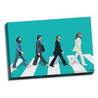 The Beatles Green Horizon Abbey Road 24x36 Canvas