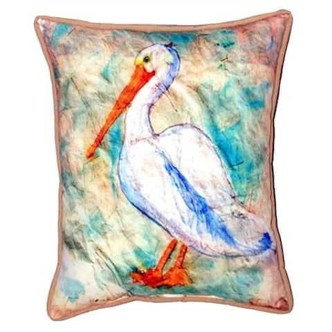 Pelican on Rice 16-inch x 20-inch Indoor/Outdoor Throw Pillow