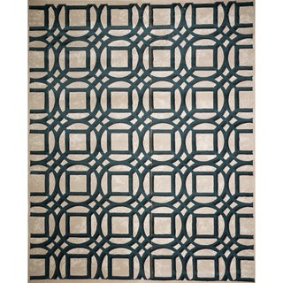 Christopher Knight Home Virginia Alessandra Teal Geometric Rug (8' x 10')