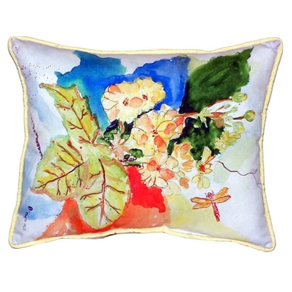 Betsy Drake Interiors Primrose Multicolored Polyester Throw Pillow (16x20)