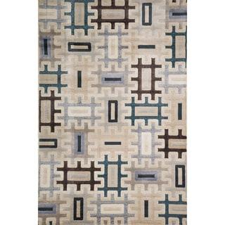 Christopher Knight Home Virginia Bryonie Multi Beige Geometric Rug (8' x 10')