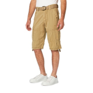 XRAY Men's Wesley Solid-colored Cotton Cargo Shorts