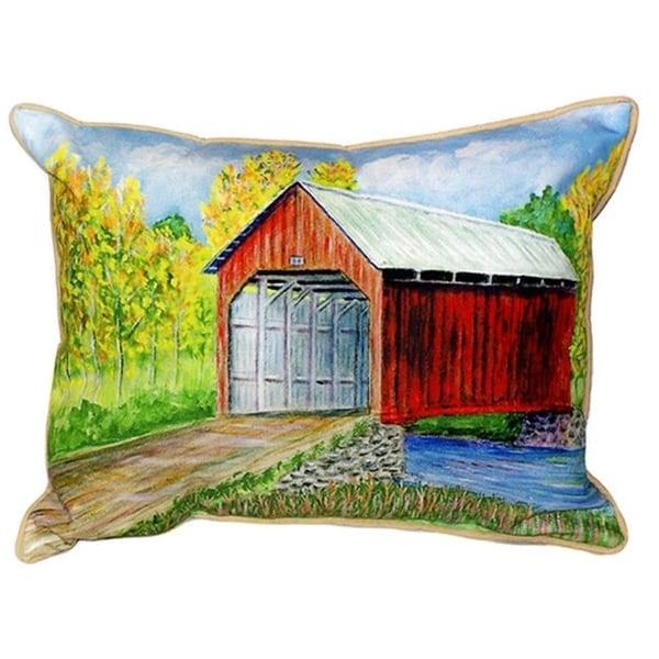 Shop Dick S Covered Bridge Multicolored Indoor Outdoor Throw Pillow