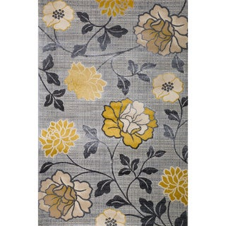 Christopher Knight Home Vita Harley Silver Floral Rug (5' x 8')