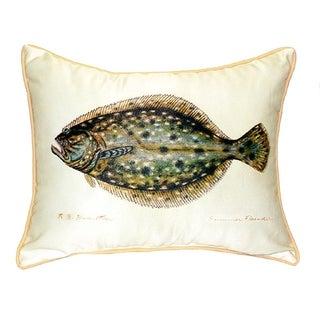 Betsy Drake Flounder Throw Pillow