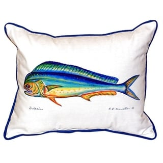 Betsy Drake Dolphin 20-inch x 24-inch Indoor/Outdoor Throw Pillow