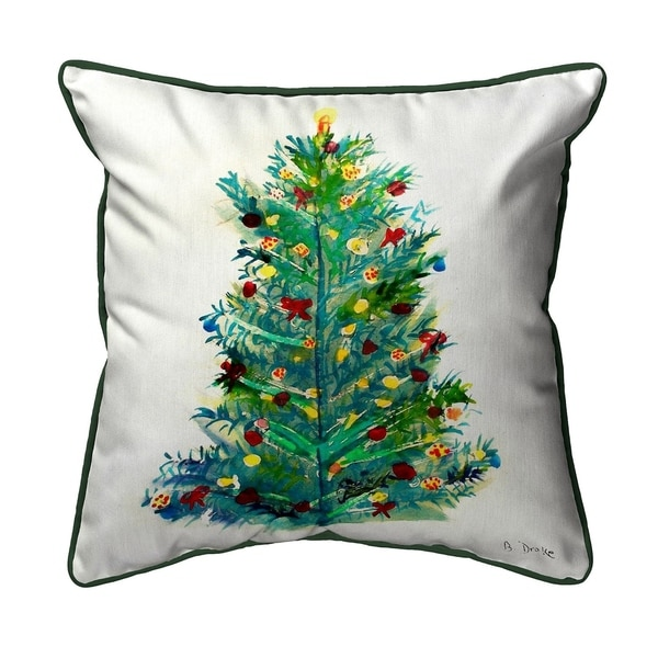 Shop Christmas Tree 22x22 Throw Pillow On Sale Free