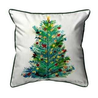 Christmas Tree Multicolor Polyester Indoor/Outdoor Throw Pillow