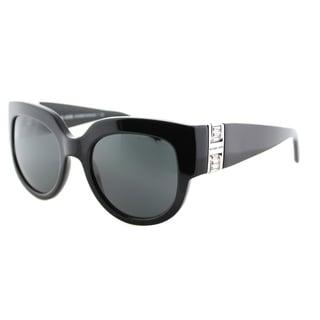Michael Kors Women's Villefranche Black Plastic Square Cat-eye Sunglasses