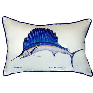 Sailfish Multi-color Polyester Indoor/Outdoor Throw Pillow