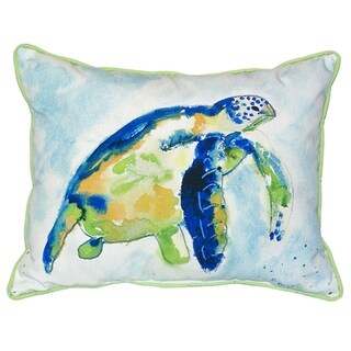 20-inch x 24-inch Blue Sea Turtle Indoor/Outdoor Throw Pillow