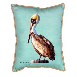 Pelican Teal 24-inch x 24-inch Indoor/OutdoorThrow Pillow