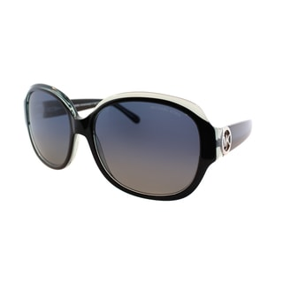 Michael Kors Women's Kaui MK 6004 30011H Black and Blue Plastic Oval Sunglasses