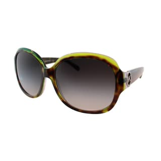 Michael Kors Women's Kauai Tortoise Green and Grey Oval Sunglasses