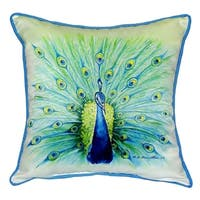 Peacock 22-inch x 22-inch Throw Pillow