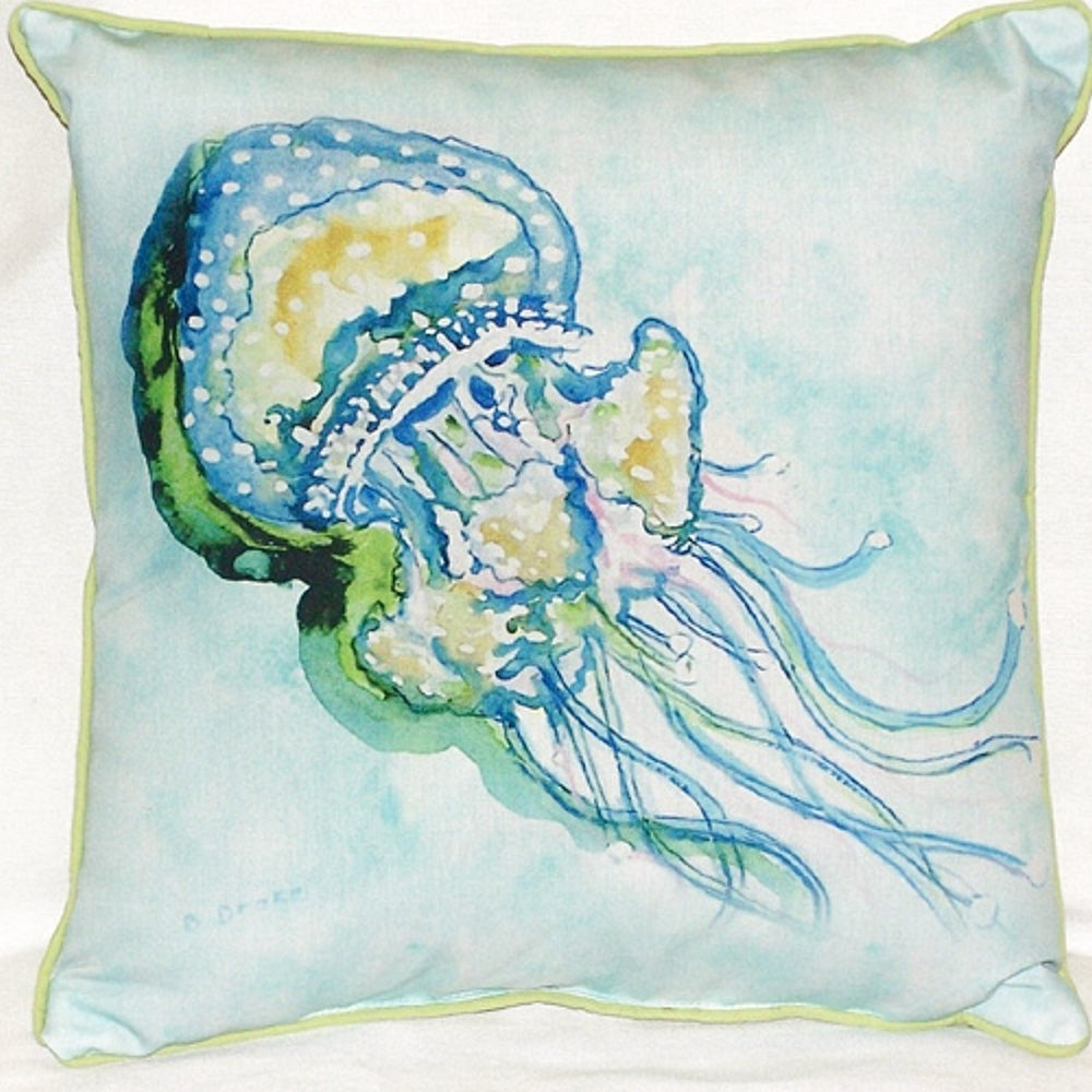 Jelly Fish Multicolored Polyester Indoor Outdoor Throw Pillow Overstock 11917071