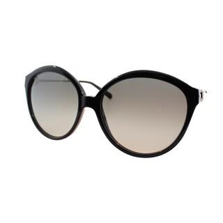 Michael Kors Womens Mykonos Black Plastic Round Sunglasses