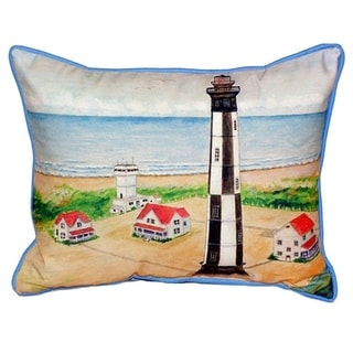 Betsy Drake Cape Henry Lighthouse Multicolored Polyester Throw Pillow