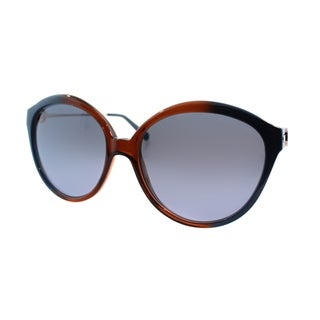 Michael Kors Women's Mykonos Brown and Blue Plastic Round Sunglasses