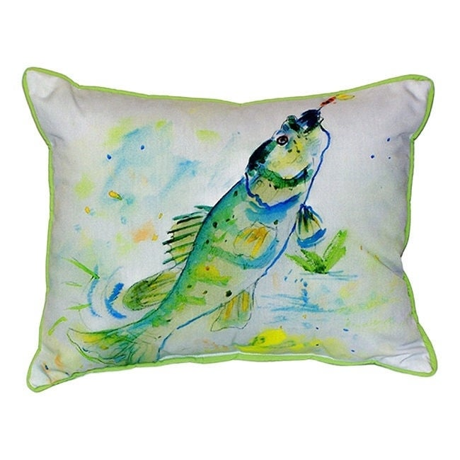 Betsy Drake Yellow Perch 20-inch x 24-inch Indoor/Outdoor...