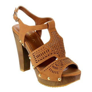 LILIANA Women's Chunky T-Strap Sandals