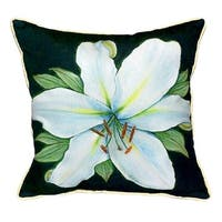 Casablanca Lily 18-inch x 18-inch Throw Pillow