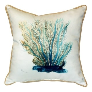 Blue Coral Multicolor Polyester Indoor / Outdoor Throw Pillow