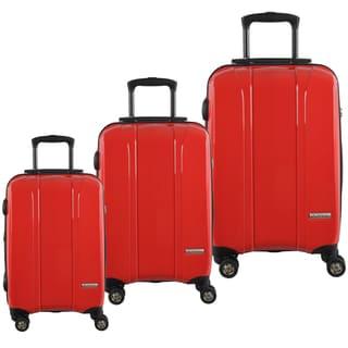 McBrine 3-piece Polycarbonate Hardside Spinner Upright Luggage Set