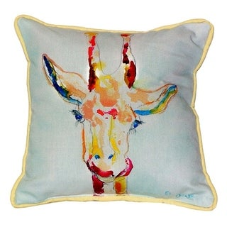 Giraffe Multi-color Polyester Indoor/Outdoor 18-inch x 18-inch Throw Pillow