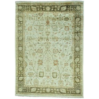 Beige 100 Percent Wool Oushak Hand Knotted Rug (8'5 x 11'7)